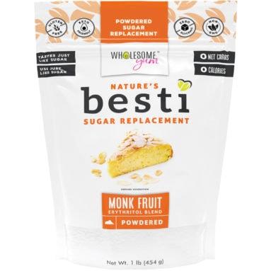 Besti Monk Fruit Sweetener With Erythritol - Powdered - Front