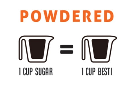 Cup conversion for Besti sweetener