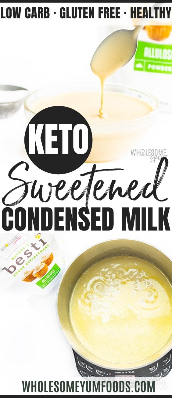 Keto Sugar Free Sweetened Condensed Milk Recipe Wholesome Yum Foods