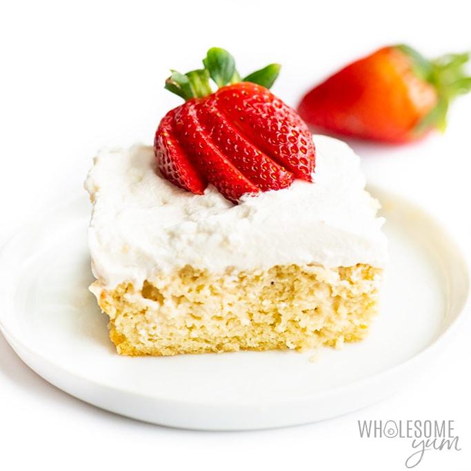Terrific Keto Tres Leches Cake Recipe Wholesome Yum Funny Birthday Cards Online Kookostrdamsfinfo