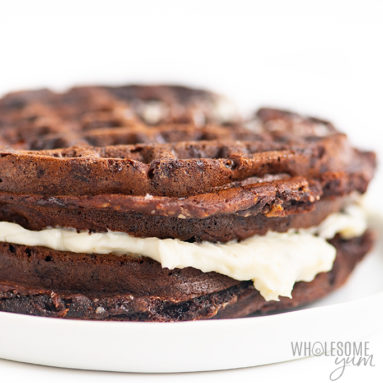 chaffle with cream cheese frosting
