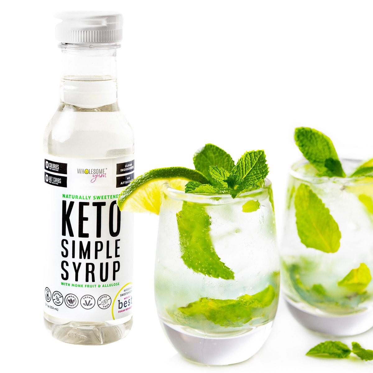 Mojitos made with Keto Simple Syrup