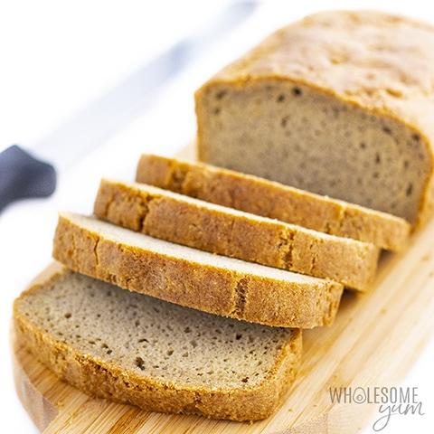 Almond flour bread made with psyllium husk powder